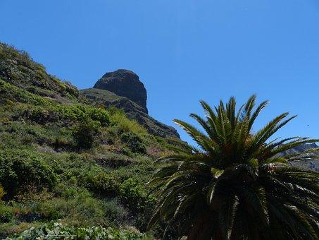 Teno Mountains, Mountain, Palma, Masca Ravine, Tenerife