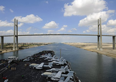 Suez, Canal, Panama, Channel, Water, Us Navy, Ship