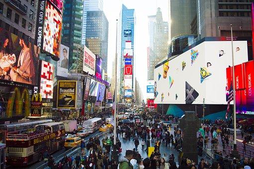 Times Square, City, Manhattan, Urban, Travel, York