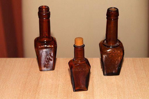 Glass Bottle, Bottles, Brown Glass, Maggi, Spice Bottle