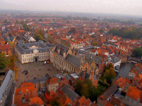 City, Red Roof, The Medieval City, The Middle Ages