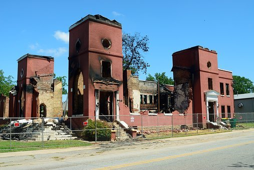 Fire Damage, Destruction, Church, Damage, Danger