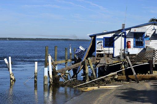 Hurricane Matthew, Damage, Dock, Pier, Outdoors, Debris