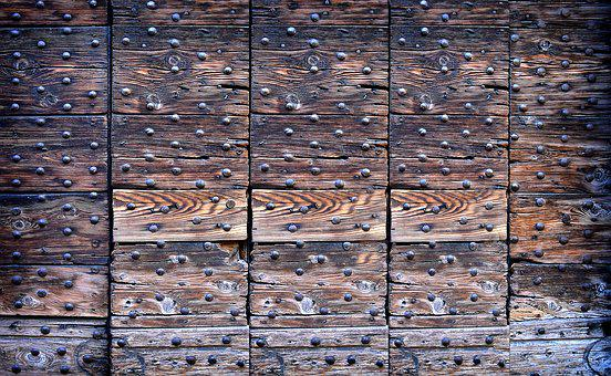 Planks, Goal, Door, Rivet, Wooden Beams, Antique