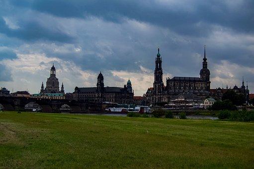 Dresden, Germany, Saxony, Saxon, City, Frauenkirche