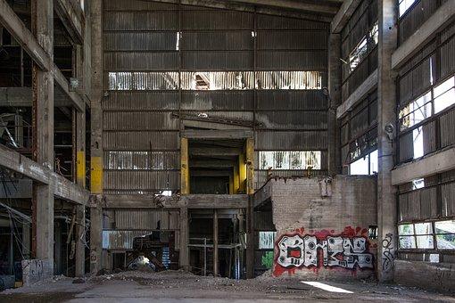 Graffiti, Abandoned Factory, Abandoned, Factory