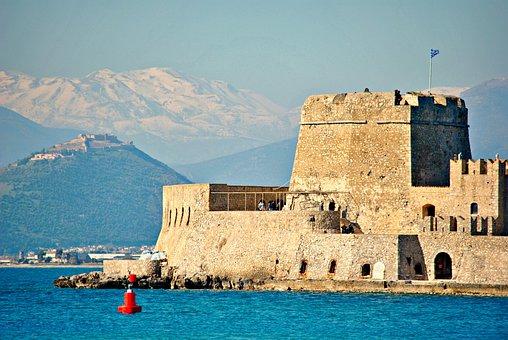 Castle, Greece, Nafplion, Architecture, Mediterranean