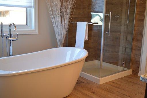 Bathtub, Shower, Bathroom, Bath, Bathing, Home, House