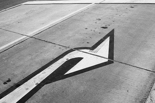 Road, Arrow, Right, Road Sign, Direction, Away, Symbol
