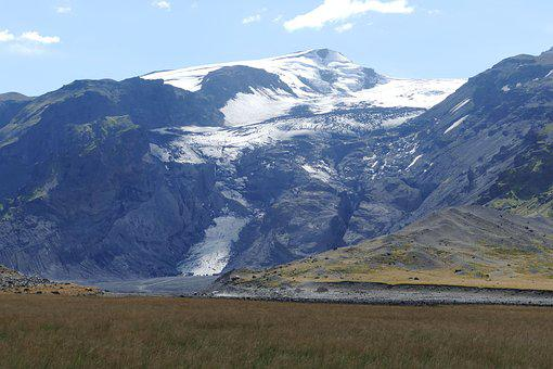 Iceland, Thor Mark, Eyjafjallajökull, River, Pebble