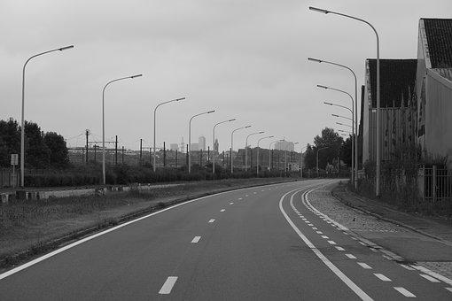 Road, Course, Avenue, Landscape, Lighting