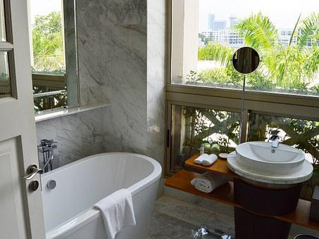 Hotel, Bathroom, Luxury, Room, Bath, Sink, Mirror