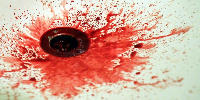 Blood, Spatter, The Stain, Red, Hand Basin, Sink