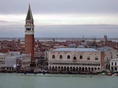Venice, Italy, St Mark's Square, Doge's Palace