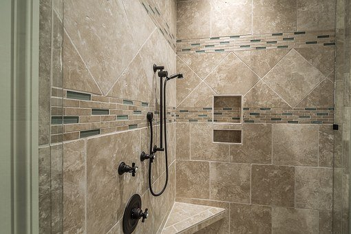 Shower, Tile, Bathroom, Interior, Luxury, Decor, Modern