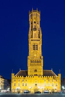 Bruges, Belfry, Belgium, Tower, Towers, Building