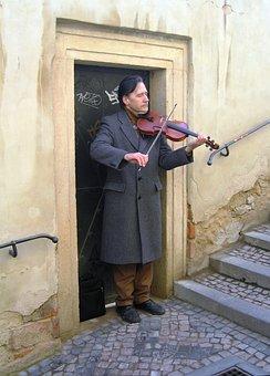 Busker, Prague, Czech, Artist, Music, Czech Republic