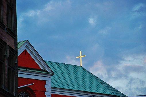 Church, Crucified, Cross, Jesus, Christ, Religion