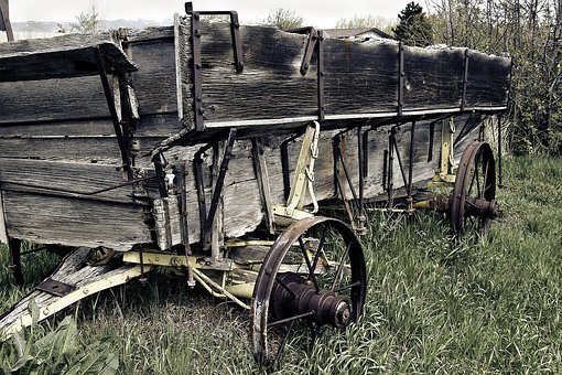 Wagon, Weathered, Wooden, Old, Heritage, Wood, Wheel