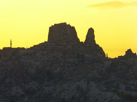 Uchisar, City, Mountain, Castle, Cappadocia, Nevşehir