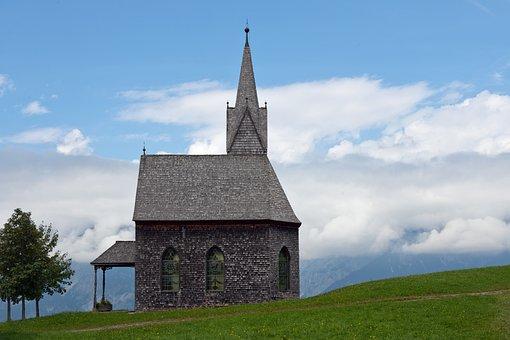 Chapel, Mountain Church, Timber, Shingle Cladding