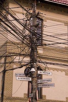 Romania, Cluj Napoca, Romanian, Town, Wire, Electronic