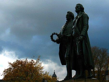 Goethe, Schiller, Monument, Weimar, Theatre Square