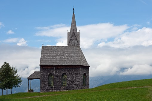 Chapel, Mountain Church, Timber, Shingle Cladding