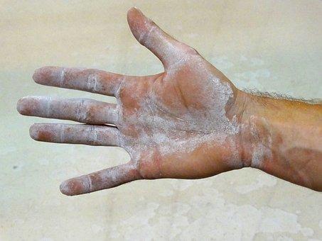 Hand, Climber, Climbers Hand, Magnesium, Work Hand