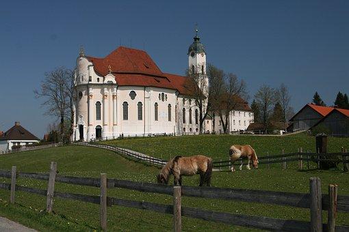 Pilgrimage Church Of Wies, Steingaden, Pfaffenwinkel
