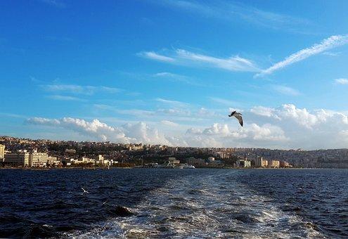 Marine, Izmir, Mansion, Turkey, V, Iskele, Port