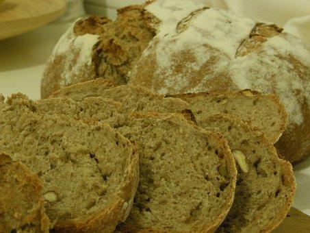 Bread, Loaf, Sliced, Rye, Sourdough, Homemade, Fresh