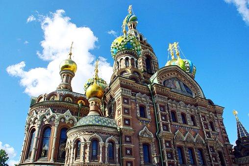Russia, St Petersburg, Church, Savior On Blood, Bulbs