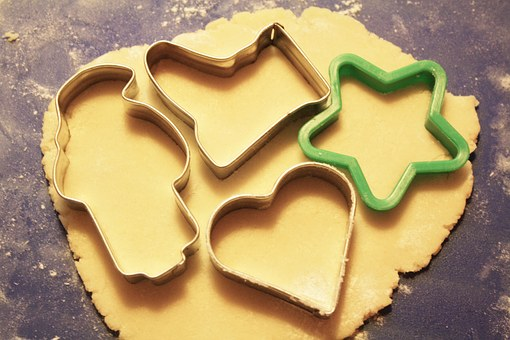 Baking Cookies, Cookie Cutters, Dough