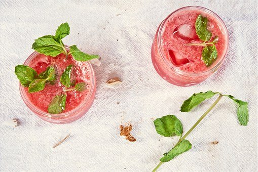 Pink, Mojito, Drinks, Alcohol, Mint, Leaves