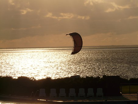 Kitesurfer, Kite, Water Sports, Sport