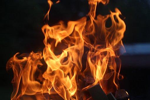 Fire, Hot, Garden, Burner, Summer, Air, Ignition