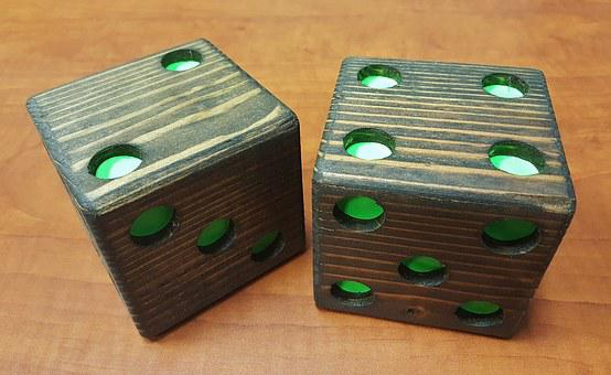 Dice, Die, Wooden Dice, Casino, Game, Chance, Gamble