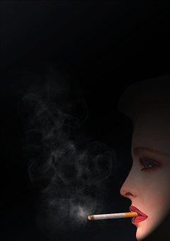 Smoking, Cool, Woman, Smoke, Cigarette, Embers