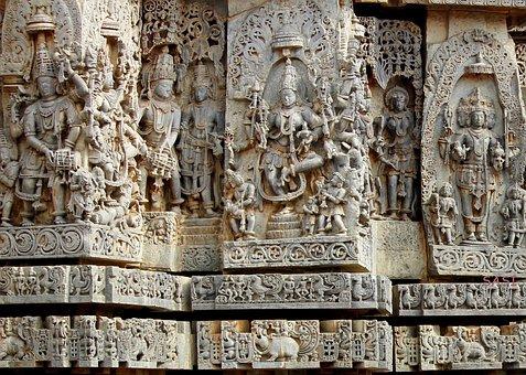 Belur, Halebeedu, Hoysala Sculpture, Old Temple, Statue