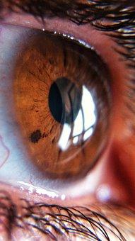 Eye, Macro, Female, Look, Vision, Woman, Pupil, Skin