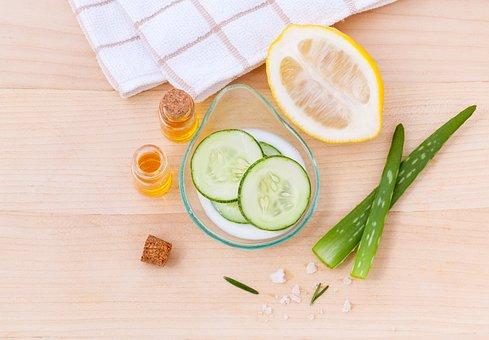 Toner, Skin, Skincare, Cooling, Facial, Slice, Natural