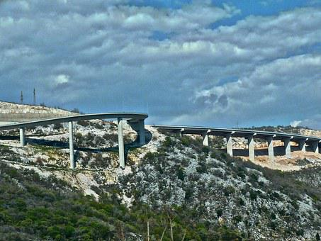 Bridge, Roadway, Mountainous, Flyover, Freeway, Highway
