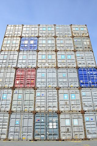 Container, Tower, Wall, Marketing Hub, Port, Box
