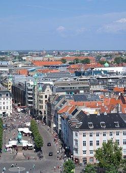 Copenhagen, Denmark, City, View, Hust Up, Seat, Summer