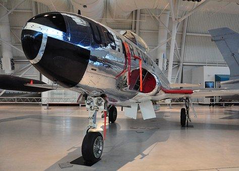 Aircraft, T-33a, Udvar-hazy, Jet, Airforce, Airplane