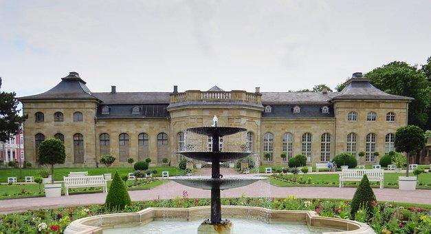 Gotha, Castle, Garden, Park, Orangery, Baroque