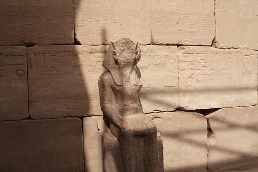 Egypt, Statue, Bust, Temple Complex, Monument, Deity