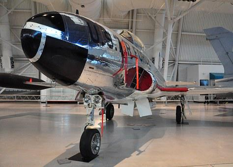 Aircraft, T-33a, Udvar-hazy, Jet, Airforce, Airplane