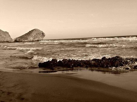 Sea, Los Cabos, Cabo De Gata, Sunset